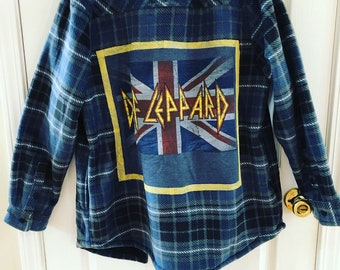 40e7f8eee4 Def Leppard flannel sz large !
