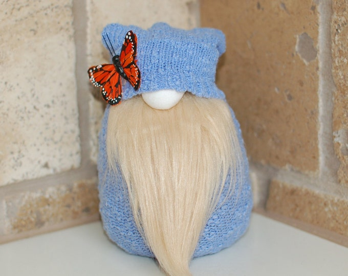 Blue Spring Butterfly Gnome - Varden