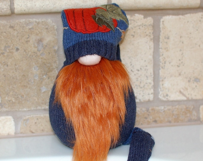 Moss the Fall Pumpkin Gnotable Gnome