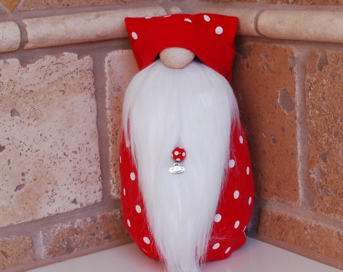 Red Polka Dotted Gnome - Calvin