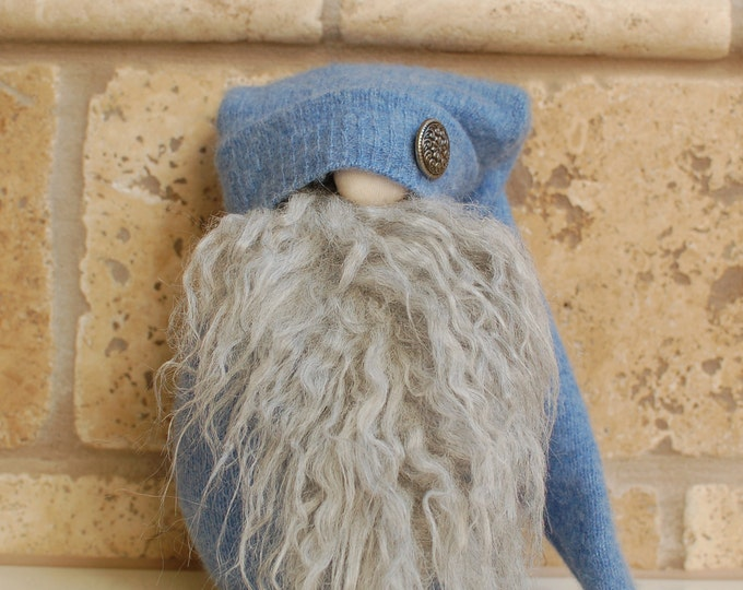Birk the Light Blue Winter Gnotable Gnome