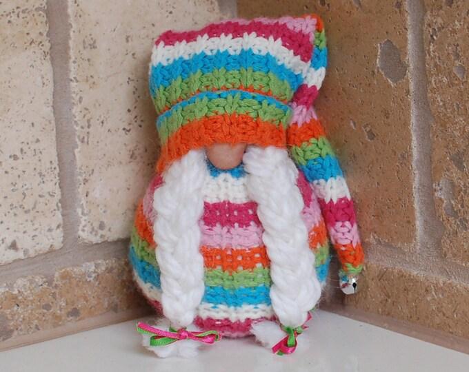 Striped Springtime Gnome - Petal
