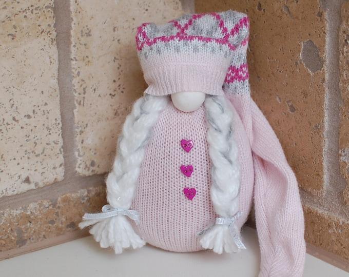 Pink Valentine's Gnome - Cleo