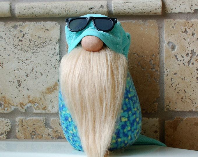 Turquoise Fleece Gnome - Lucian