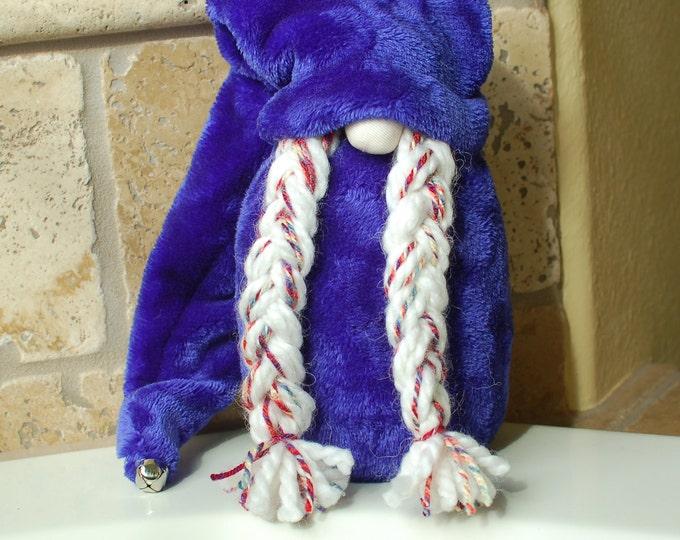 Fuzzy Indigo Gnome - Mila