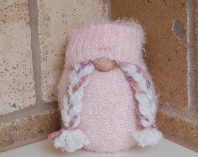 Pink Fuzzy Valentine's Day Gnome - Scarlett
