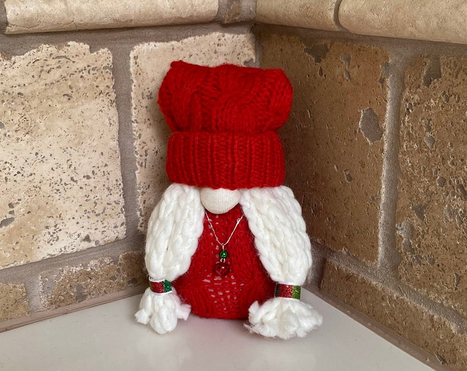 Lucy the Little Red Holiday Gnome