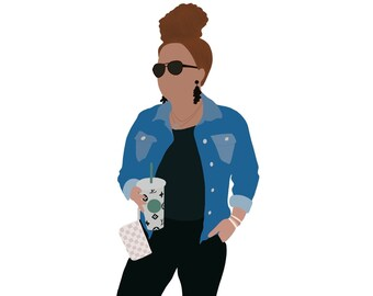 Minimalist Digital Portrait, Digital Illustration, Digital Family Portrait, Minimalist Drawing, Procreate, JPEG, Custom Portrait