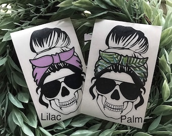 DECAL ONLY Mom Life Skull, Mom Life, Car Decal, Cup Decal, Personalized Sticker, Iced Coffee, Starbucks, Custom Cup