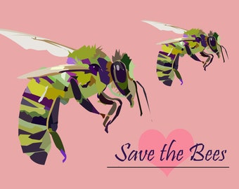 Save the Bees Print