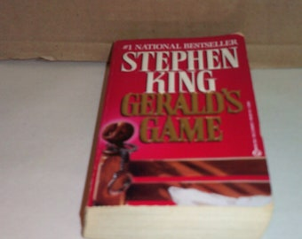 Gerald's Game by Stephen King, Vintage 1993 First Printing Paperback!!