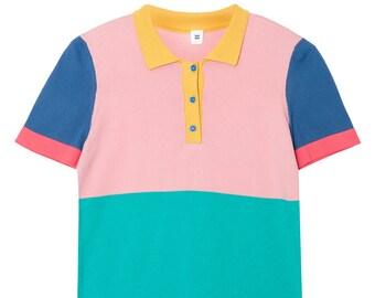 6a4af475 Unisex Color Block Polo Shirt