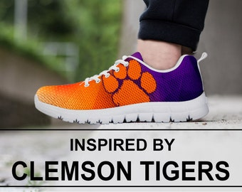 newest ac028 2e04d Clemson Tigers sneaker, Clemson Tigers Shoes Custom Printed Sneakers Womens  Mens and Kids Final Template 1.4