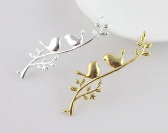 Bird On Branch Pendant | Pendant Dangle Earrings Keychain