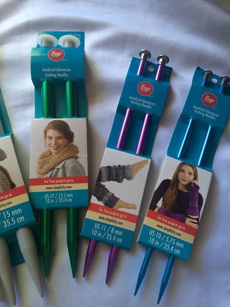 size US 35 Plastic Knitting Needles us 10 size US 19 Size us 11 size us 17 Anodized Aluminum Knitting Needles BOYE Knitting needles
