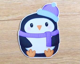 Cute Vinyl Penguin Sticker ~ Original Art Kawaii Sticker ~ Laptop Sticker ~ Water Bottle Sticker