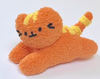 Adopt a Plushie - Plush Orange Kitten - Soft Handmade Stuffed Cat - Cute Stuffed Pet