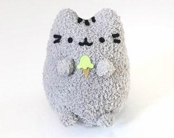 Adopt A Pet - Pusheen Inspired - Cute Plush Pusheen Cat - Soft Handmade Stuffed Animal