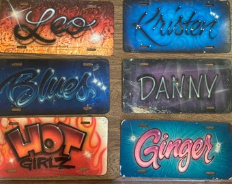 Custom Airbrush License plates. Made to order, Personalize your auto tag today!