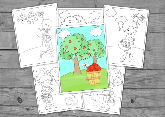 Printable Fall Coloring for Kids Autumn Activity Coloring