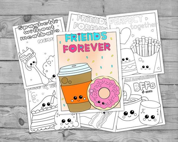 Printable Kawaii Coloring for Kids Kawaii Food Activity