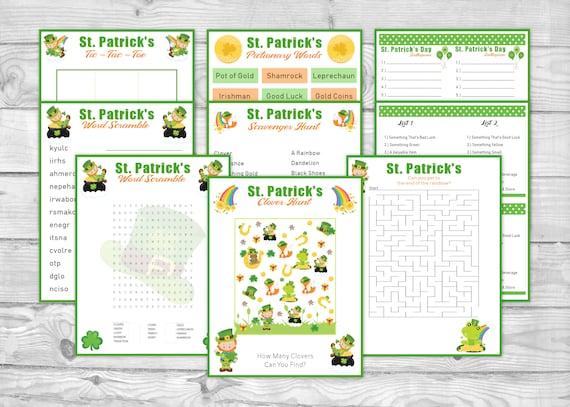 Printable St. Patrick's Day Game Pack St. Patrick's