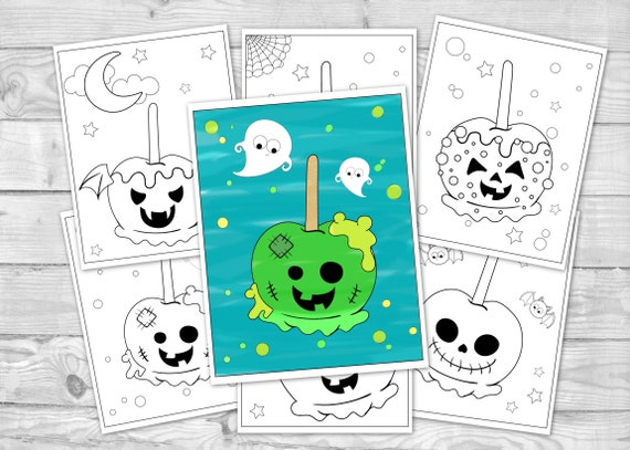 Printable Halloween Coloring for Kids Fall Autumn Activity