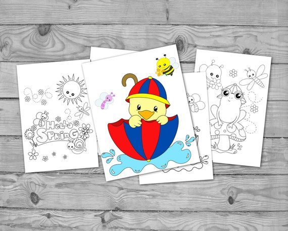 Printable Spring Coloring for Kids Spring Activity Coloring