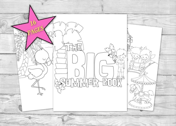 Printable Summer Coloring Book for Kids Kids Coloring Sheets