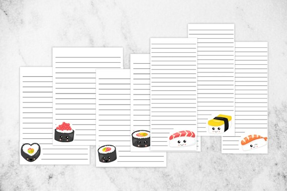 Printable Kawaii Stationery Set Sushi Stationery Note Paper Etsy Everyone in the family (or at the party) will have fun rolling the nori sheets around sushi rice and their favorite fillings! etsy