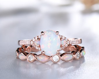 5342882560e7a Opal rose gold ring | Etsy