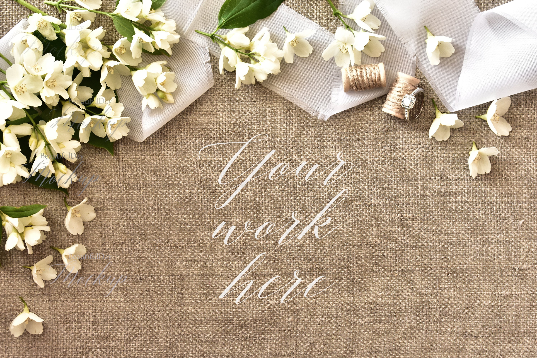 Wedding Mockup Wedding Stock Photographyjasmine Flowers Etsy
