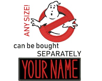 4-20cm Ghost Patch fanart inspired, logo name Vintage  Iron-On/Sew-On Embroidered Patch, Custom  Limited Edition Patch, IRON on or Hook