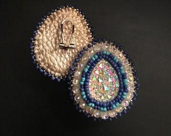 Hand beaded Native American Earrings