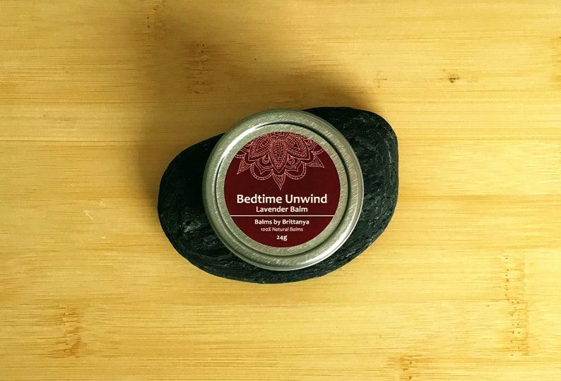 Bedtime Unwind Lavender Balm 24g Essential Oils For Sleep image 0