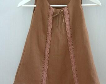 """Linen Baby line Dress """"EMMELINE"""" handmade"""