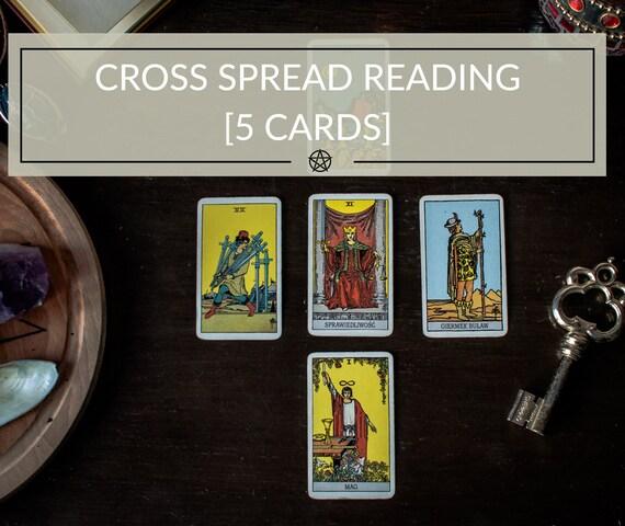 d8458a57e7bb35 Croix en répandre cinq cartes de Tarot voyance PDF réponses   Etsy