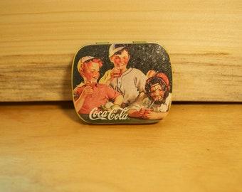 Vintage Miniature Small Coca Cola Tin