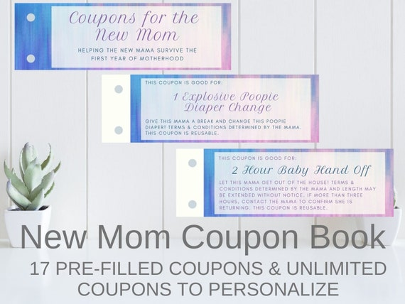 Coupons For The New Mom First Time Mom Printable Coupon Etsy