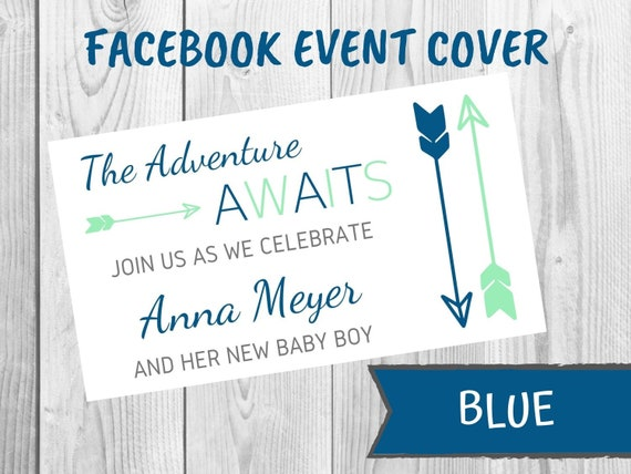 The Adventure Awaits Facebook Event Cover Photo Baby Shower Etsy