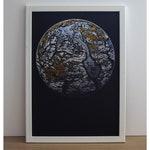 Planet Print - Series WR2 / Home Decor / Gift Idea / A4 Art Print / A3 Art Print / Prints / Art / Planet / Space / White / Blue / Gold