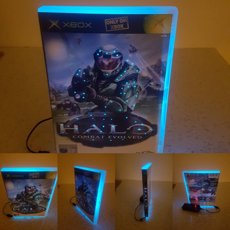 Lamp Halo light Dvd Xbox vhslamp vhs light kids boys girls adults neon  retro custom gifts gifts for him gifts for her games movies