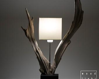 Unique wooden lamp