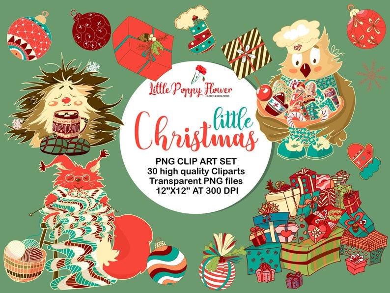 Christmas Printables Christmas DIY Snowflakes Cute Christmas Clip Art Christmas Clipart -Holiday Clipart Owl Digital Clipart Hedgehog