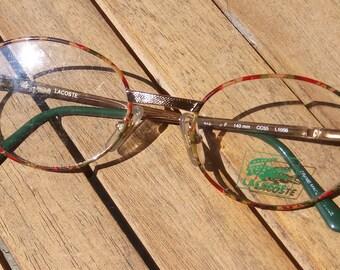 02da8ad22b2 1980s LACOSTE 756 F Oval Glasses 140mm CC55 L1056