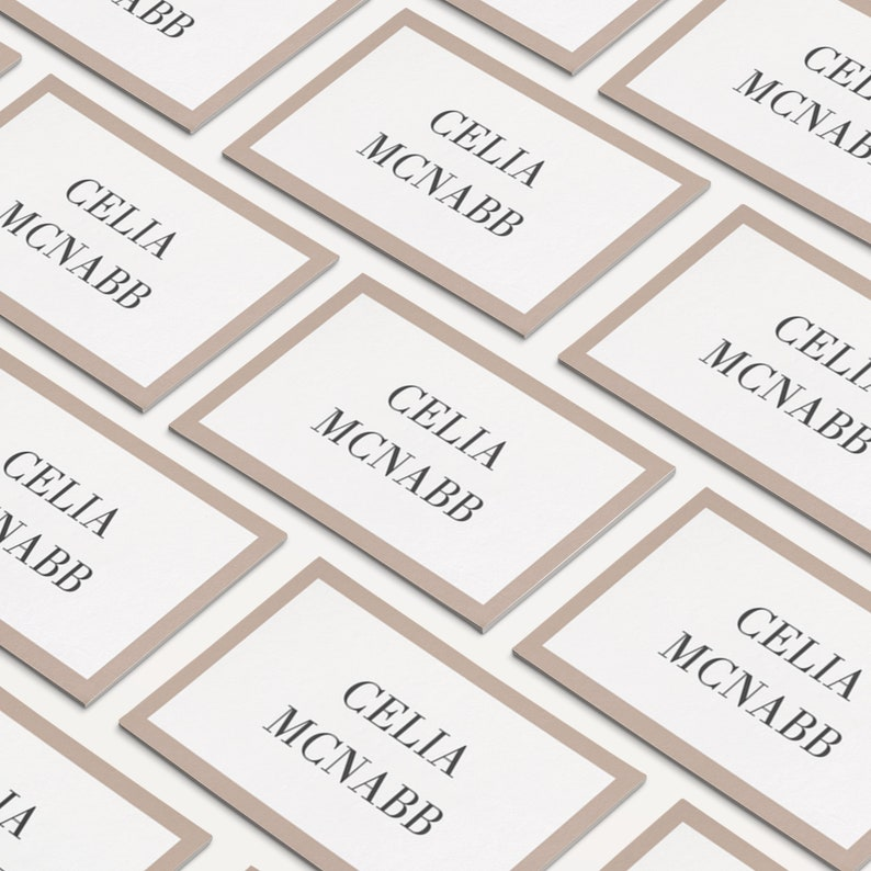 Escort Cards Flat and Folded Place Cards Printable Printable Name Cards C007