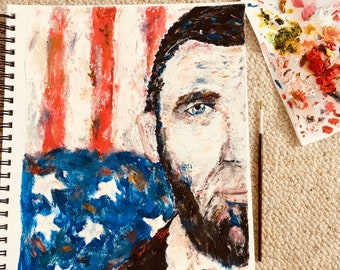 Abe Lincoln Oil Painting