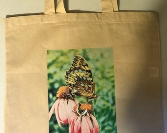 Out on a Flower tote bag