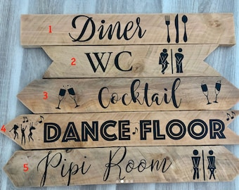 STICKERS wedding signs / bapteme / events