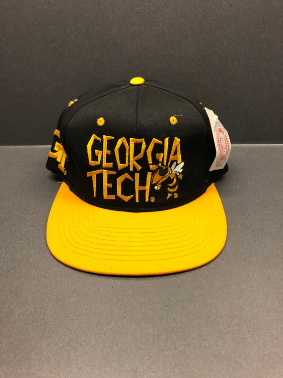 86495b85245 Vintage w tag Georgia Tech Yellow Jackets snapback hat by